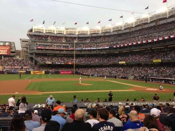Yankee Stadium, secção: 124, fila: 18, lugar: 11