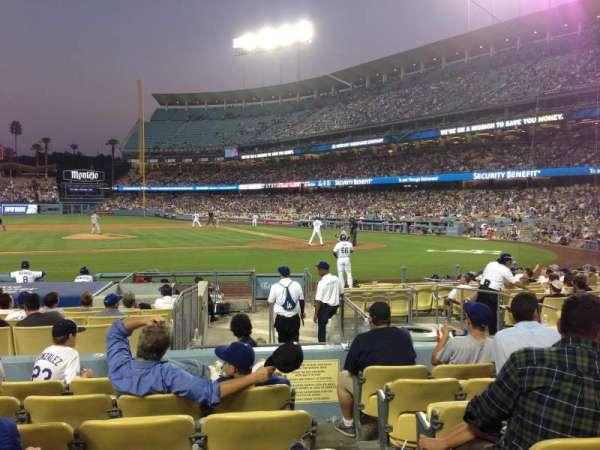 Dodger Stadium, secção: 17FD, fila: G, lugar: 1
