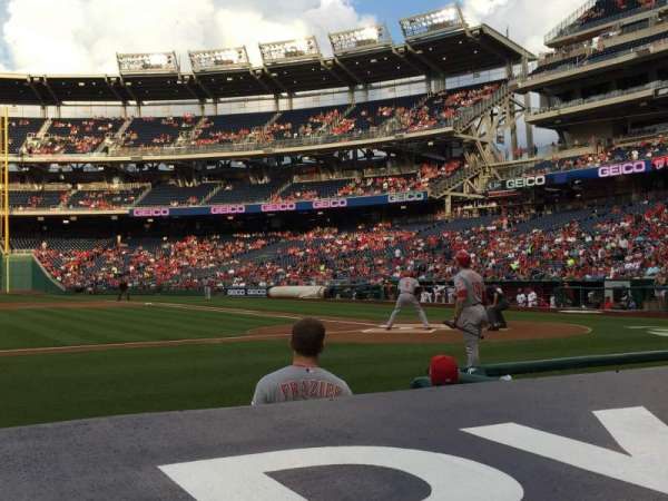 Nationals Park, secção: 117, fila: D, lugar: 9
