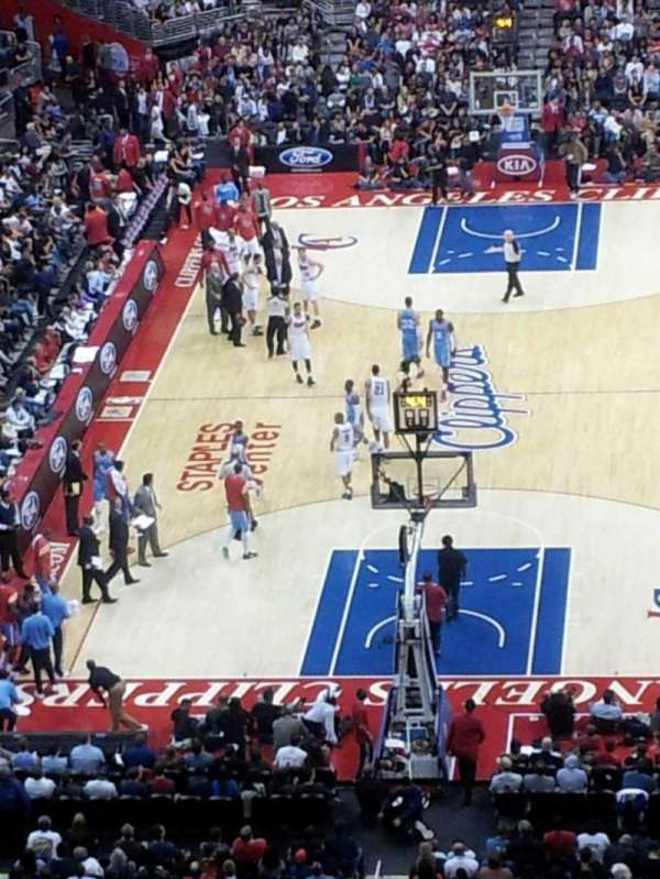 Staples Center, secção: 326, fila: 5, lugar: 6