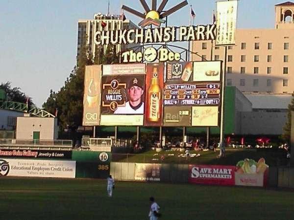 Chukchansi Park, secção: 126, fila: 11, lugar: 11