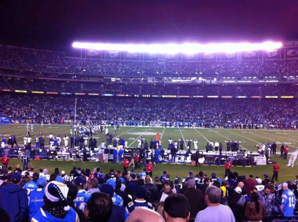 San Diego Stadium, secção: F7, fila: 23, lugar: 3