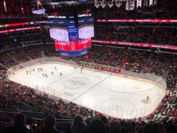 Capital One Arena, secção: 421, fila: O, lugar: 8