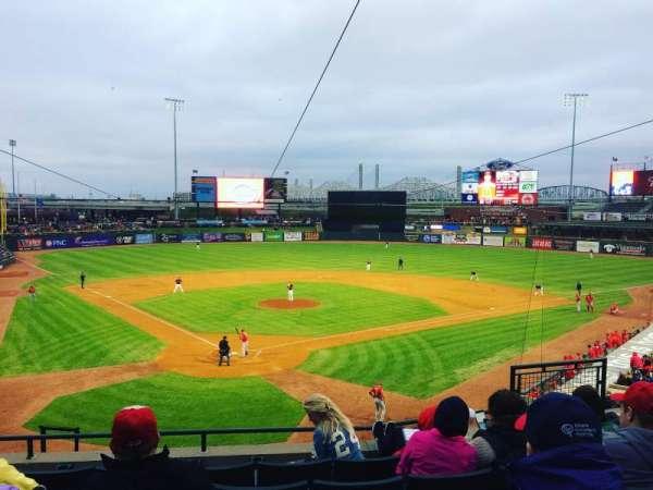 Louisville Slugger Field, secção: 214, fila: E, lugar: 7