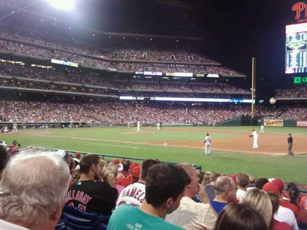 Citizens Bank Park, secção: 114, fila: 13, lugar: 1