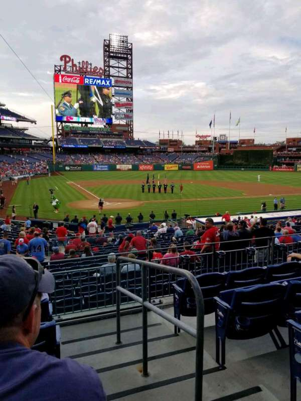 Citizens Bank Park, secção: 121, fila: 25, lugar: 1