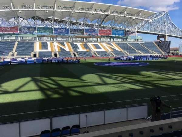 Talen Energy Stadium, secção: 109, fila: G, lugar: 10