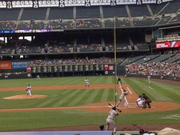 Coors Field, secção: 135, fila: 16, lugar: 6