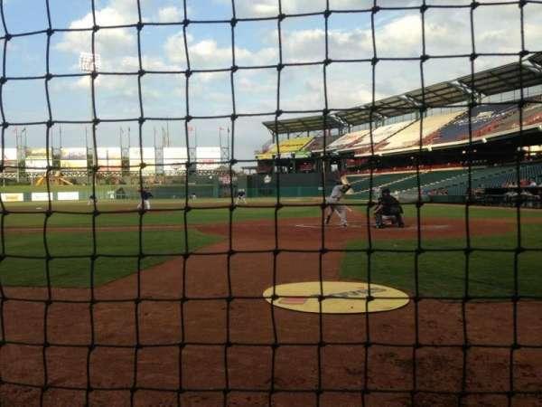 Chickasaw Bricktown Ballpark, secção: 107, fila: B, lugar: 1