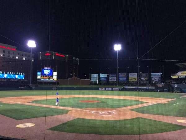 Chickasaw Bricktown Ballpark, secção: 109, fila: P, lugar: 1