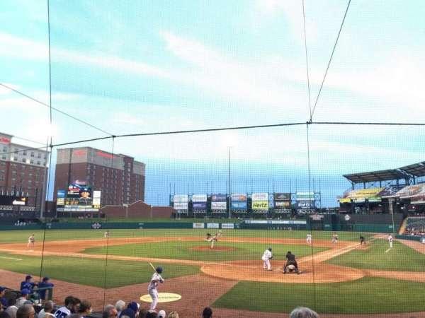 Chickasaw Bricktown Ballpark, secção: 109, fila: M , lugar: 14