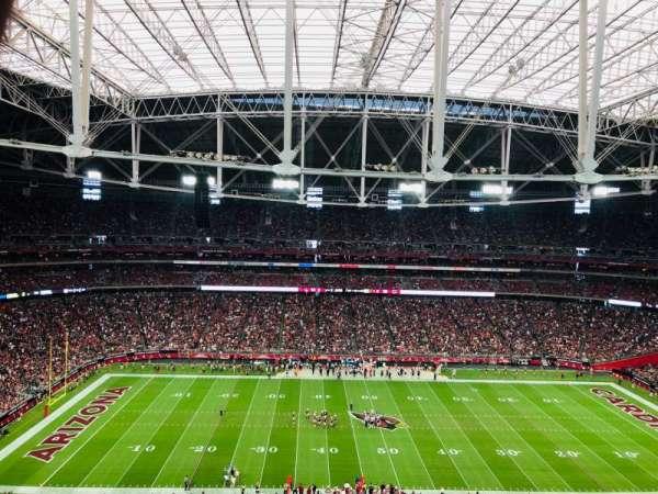 State Farm Stadium, secção: 414, fila: 10, lugar: 4