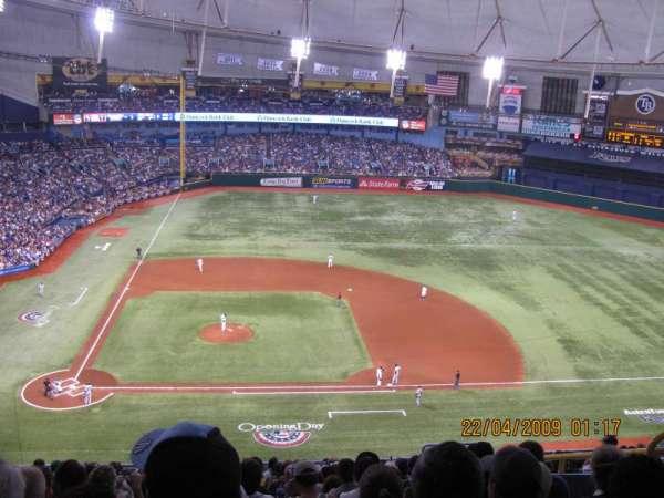 Tropicana Field, secção: 310, fila: S