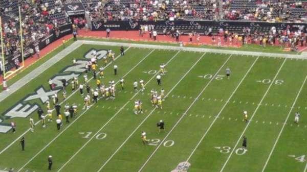NRG Stadium, secção: 400, fila: 3, lugar: 25