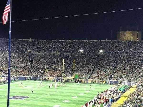 Notre Dame Stadium, secção: 116, fila: AD, lugar: 7