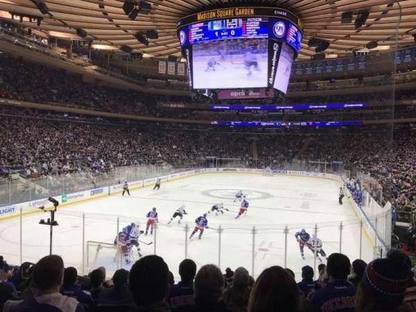 Madison Square Garden, secção: 103, fila: 13, lugar: 7