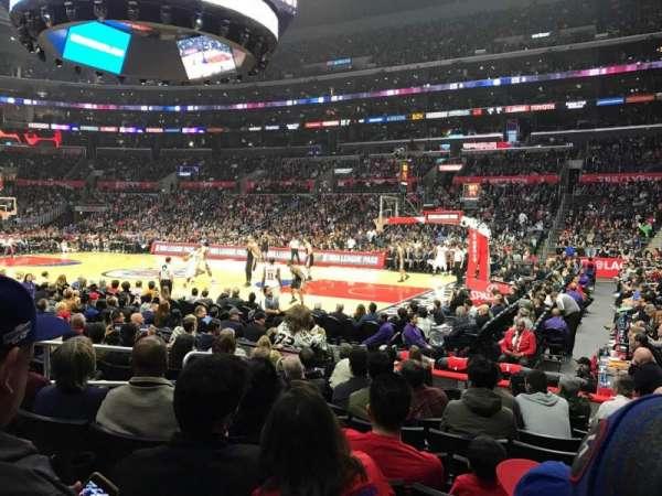 Staples Center, secção: 109, fila: 10, lugar: 3