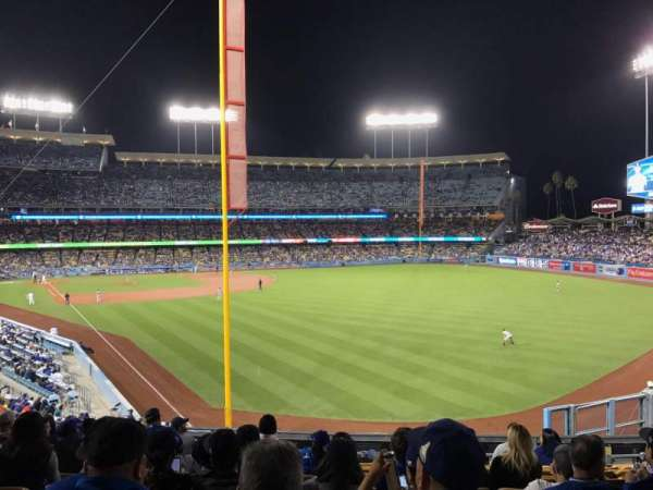 Dodger Stadium, secção: 166LG, fila: K, lugar: 4