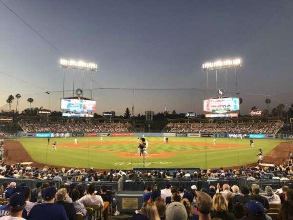 Dodger Stadium, secção: 2FD, fila: M, lugar: 1