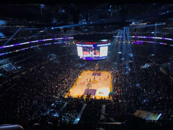 Staples Center, secção: 308, fila: 7, lugar: 26