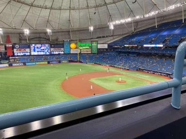 Tropicana Field, secção: 317, fila: A, lugar: 22
