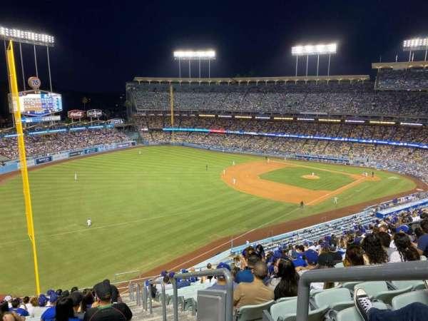 Dodger Stadium, secção: 47RS, fila: S, lugar: 1