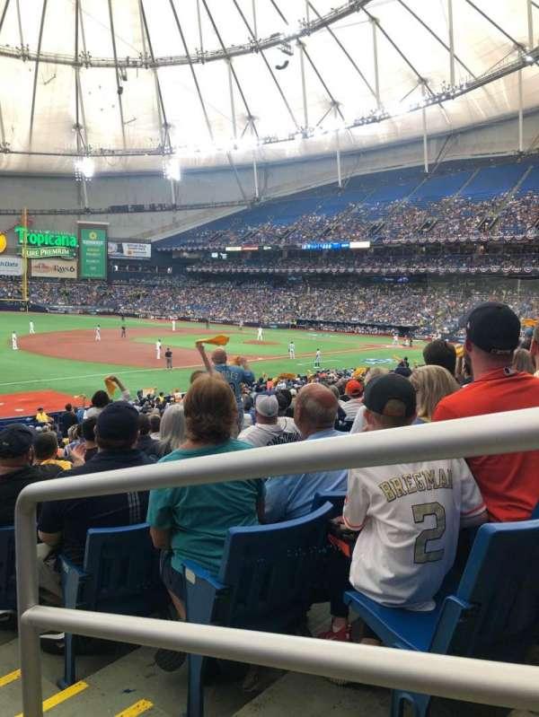 Tropicana Field, secção: 129, fila: FF, lugar: 23