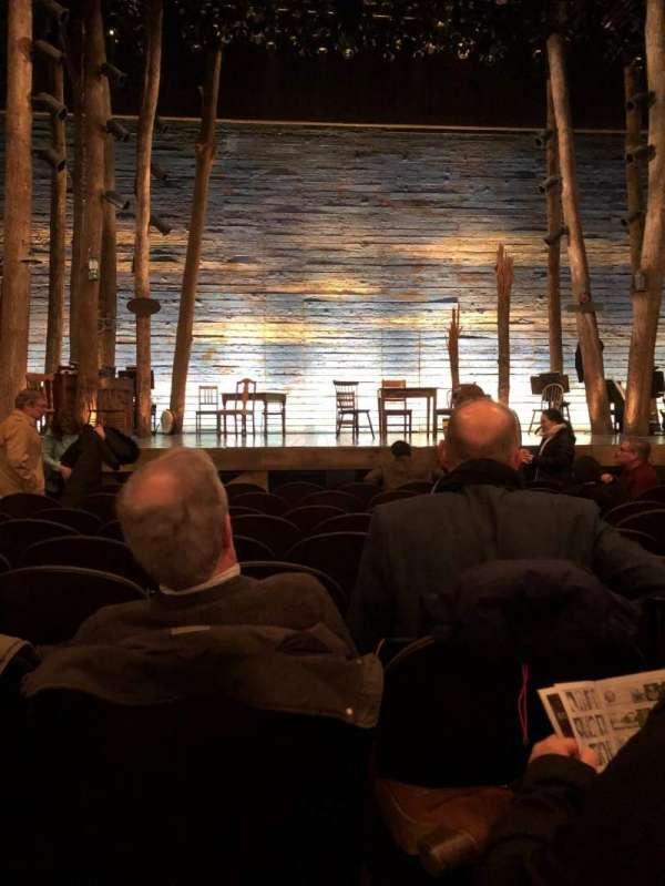 Gerald Schoenfeld Theatre, secção: Orchestra C, fila: H, lugar: 104