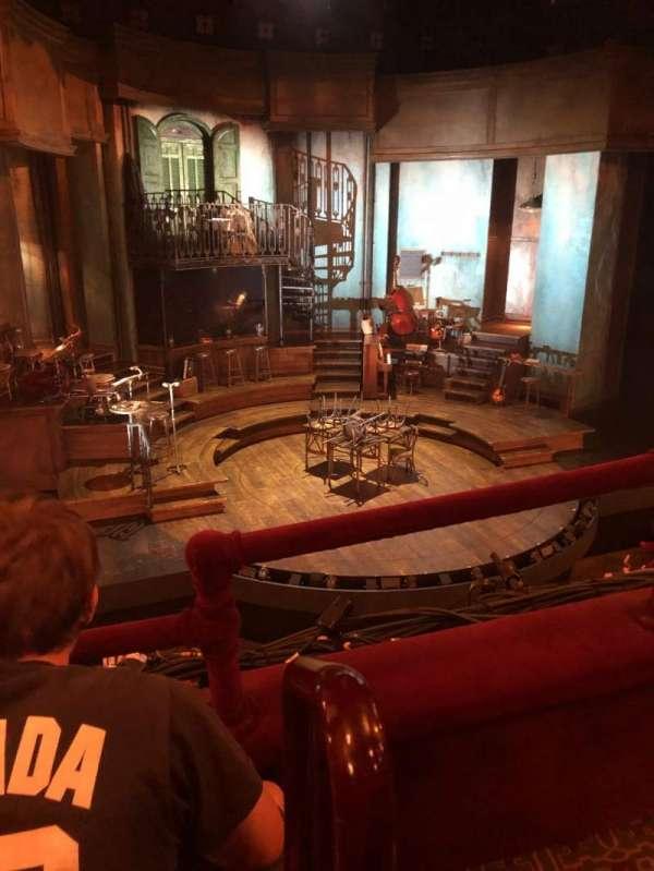 Walter Kerr Theatre, secção: Mezzanine L, fila: B, lugar: 1