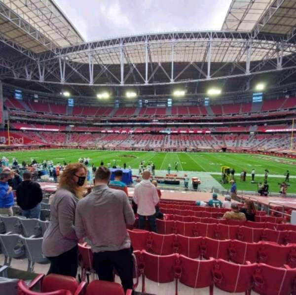 State Farm Stadium, secção: 128, fila: 17, lugar: 9