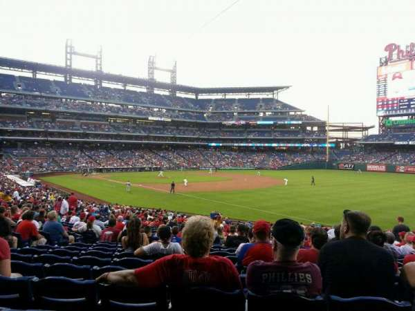 Citizens Bank Park, secção: 110, fila: 33, lugar: 9