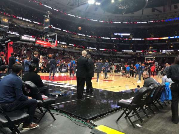 United Center, secção: 113, fila: A, lugar: 18