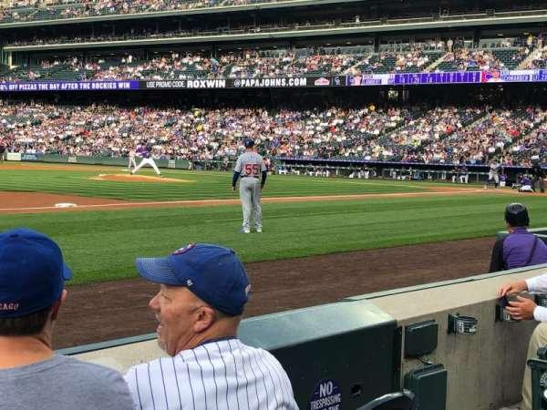 Coors Field, secção: 141, fila: 3, lugar: 5
