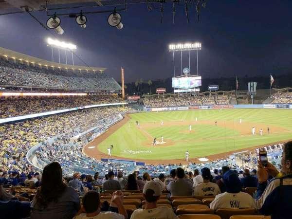 Dodger Stadium, secção: 116LG, fila: R, lugar: 6