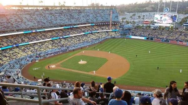Dodger Stadium, secção: 22RS, fila: GG, lugar: 16