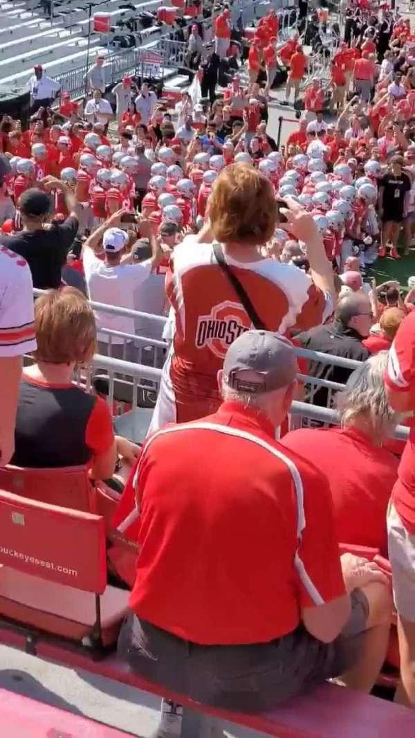 Ohio Stadium, secção: 28A, fila: 6, lugar: 5