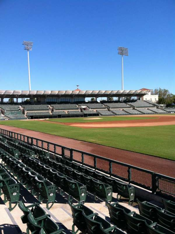 Ed Smith Stadium, secção: 101, fila: 6, lugar: 7