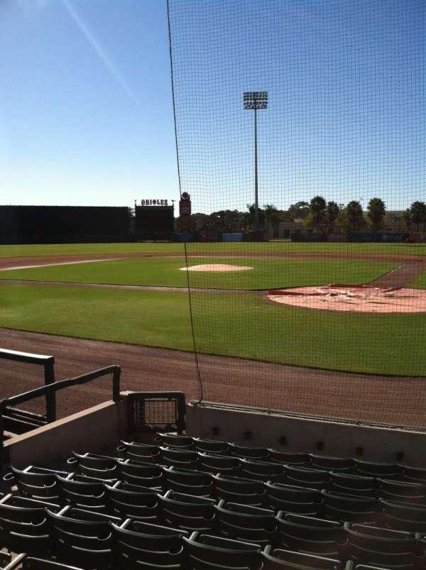 Ed Smith Stadium, secção: 115, fila: 9, lugar: 6