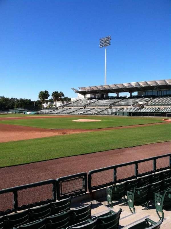 Ed Smith Stadium, secção: 121, fila: 5, lugar: 5