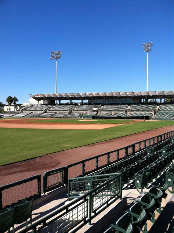 Ed Smith Stadium, secção: 125, fila: 6, lugar: 9