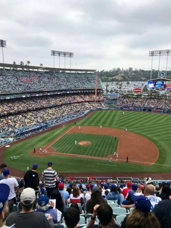 Dodger Stadium, secção: 20RS, fila: S, lugar: 2