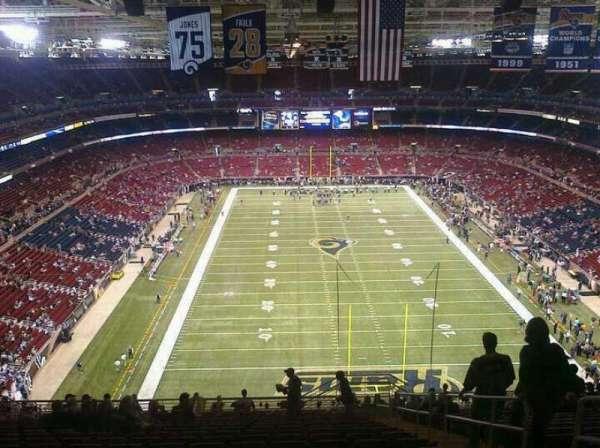 The Dome at America's Center, secção: 12, fila: 16, lugar: 9