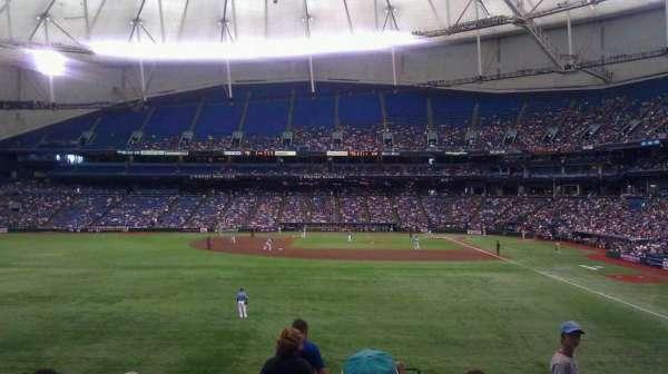 Tropicana Field, secção: 143, fila: JJ, lugar: 24
