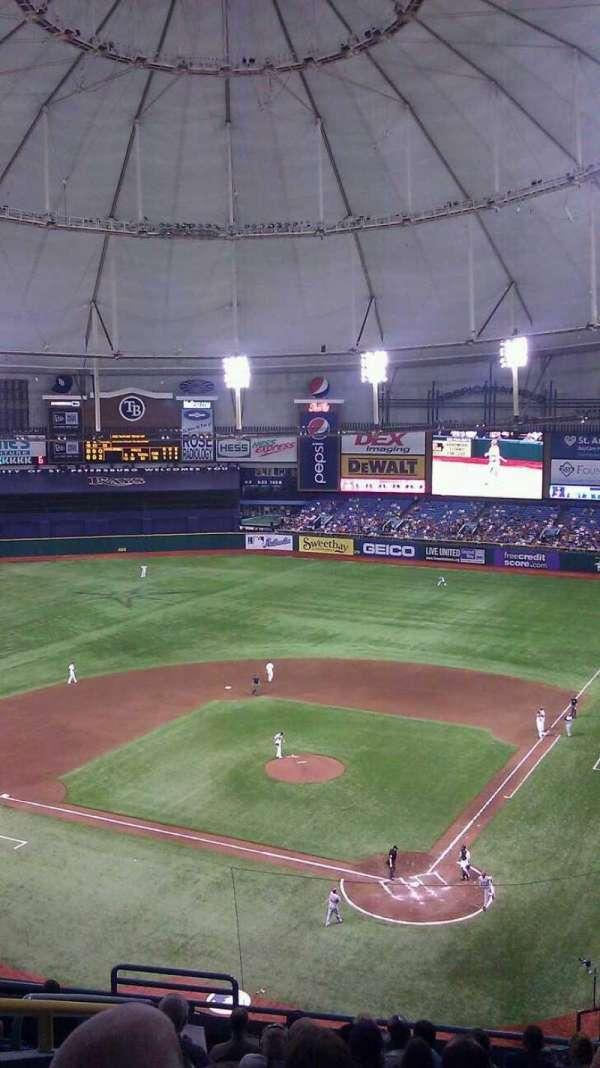 Tropicana Field, secção: 303, fila: M, lugar: 4