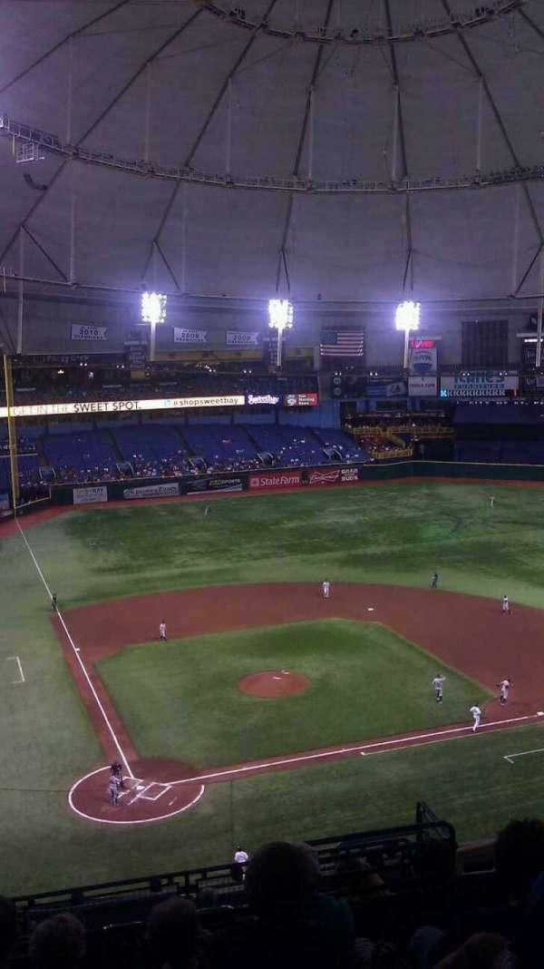 Tropicana Field, secção: 306, fila: N, lugar: 12