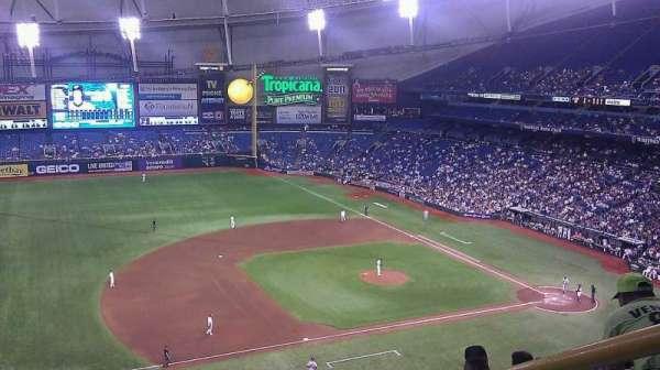Tropicana Field, secção: 315, fila: h, lugar: 18