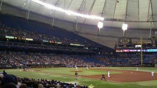 Tropicana Field, secção: 126, fila: U, lugar: 10