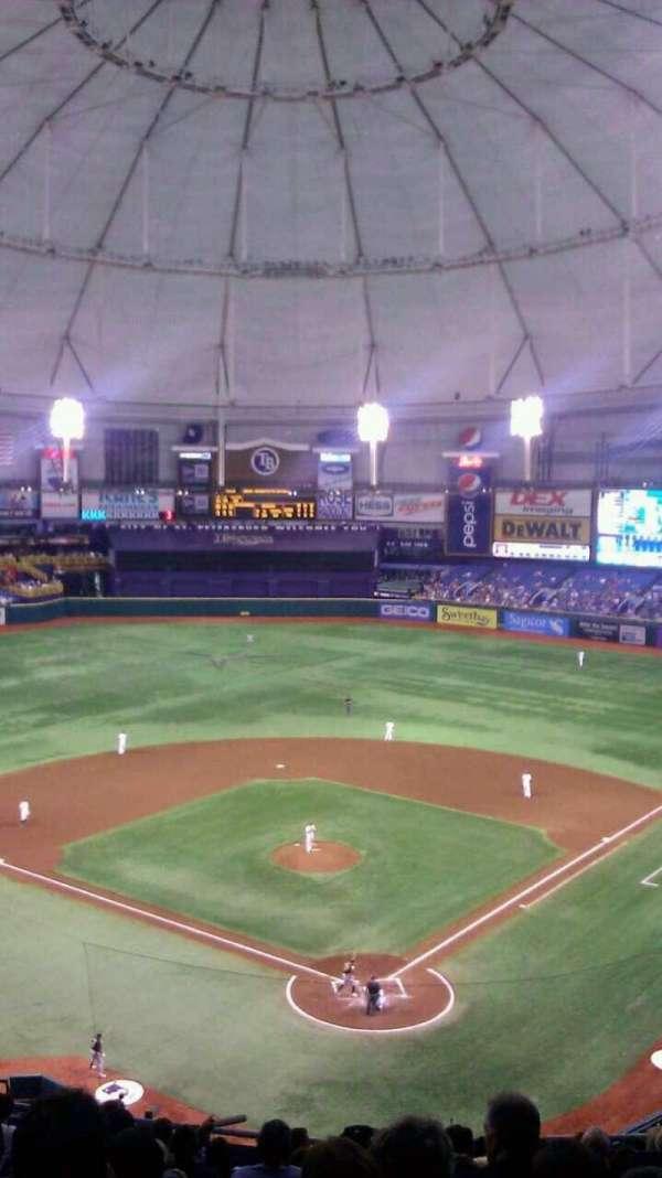 Tropicana Field, secção: 301, fila: N, lugar: 9