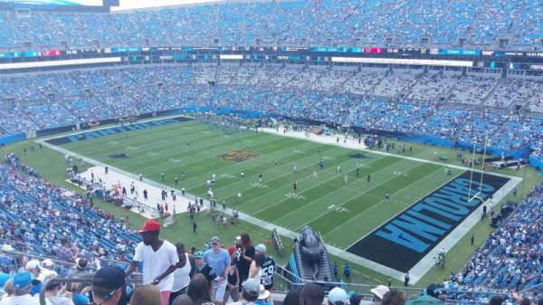Bank of America Stadium, secção: 508, fila: 8, lugar: 16