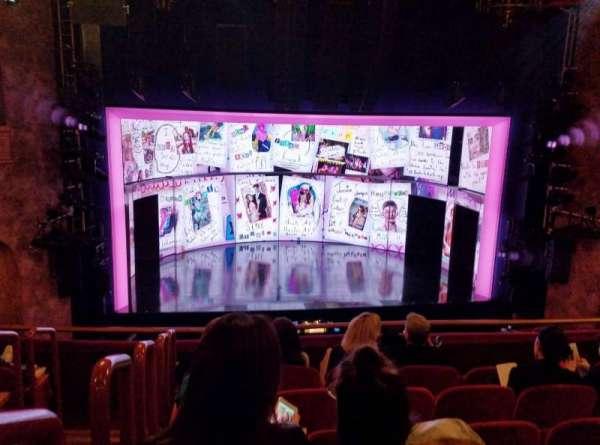 August Wilson Theatre, secção: Mezzanine C, fila: F, lugar: 115